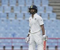 Rediff Cricket - Indian cricket - Shikhar Dhawan's flop show in Tests continues: Twitterati term it 'surgical strike'