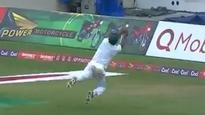 Rediff Sports - Cricket, Indian hockey, Tennis, Football, Chess, Golf - West Indies vs Pakistan: Wahab Riaz takes a stunner to dismiss Roton Chase