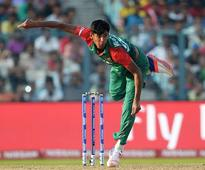 Rediff Sports - Cricket, Indian hockey, Tennis, Football, Chess, Golf - Mustafizur Rahman out of action again due to shoulder injury