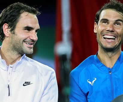 Rediff Sports - Cricket, Indian hockey, Tennis, Football, Chess, Golf - What brings Nadal and Federer together