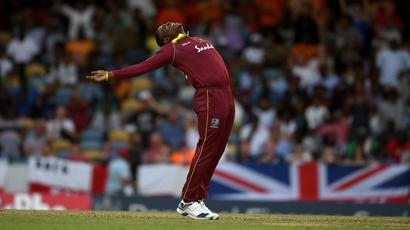 Rediff Cricket - Indian cricket - Shimron Hetmyer century, Sheldon Cottrell five-for steer West Indies to win over England
