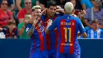 Rediff Sports - Cricket, Indian hockey, Tennis, Football, Chess, Golf - Barcelona upbeat ahead of Champions League clash even without talisman Messi