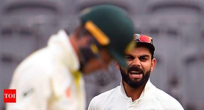 Rediff Sports - Cricket, Indian hockey, Tennis, Football, Chess, Golf - Perth Test: Kohli, Paine exchange verbal blows