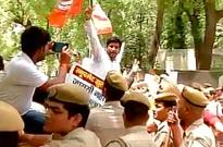 BJP protests outside CM Kejriwal's house over AAP govt proposal to buy snooping devices