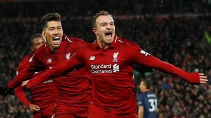 Rediff Sports - Cricket, Indian hockey, Tennis, Football, Chess, Golf - Premier League: Liverpool back on top as Shaqiri sinks Manchester United