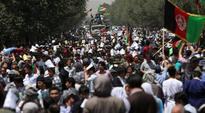 Thousands of people from Afghanistan's Hazara minority had gathered to demand changes to the route of a planned multi-million dollar power transmission line.