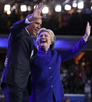 'Hillary's been in the room': Obama vouches for 'President' Clinton