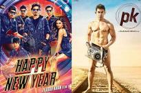 PK unable to break Happy New Year's three day collections at the domestic box office