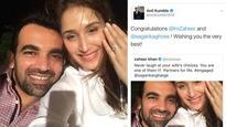 Rediff Sports - Cricket, Indian hockey, Tennis, Football, Chess, Golf - Jumbo gaffe: When Anil Kumble thought Zaheer Khan got engaged to Sagarika Ghose!