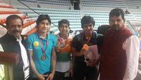 Rediff Sports - Cricket, Indian hockey, Tennis, Football, Chess, Golf - India bag 13 medals at Junior Asian Wrestling Championships 2017