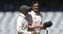 Rediff Cricket - Indian cricket - Mitchell Starc fires bouncer at Mickey Arthur before Brisbane Test