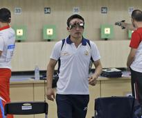Jitu Rai follows up gold with 5th place finish in 10m pistol event