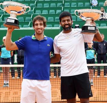 Rediff Sports - Cricket, Indian hockey, Tennis, Football, Chess, Golf - Bopanna-Cuevas win Monte Carlo Masters