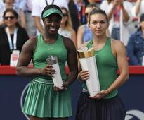 Rediff Sports - Cricket, Indian hockey, Tennis, Football, Chess, Golf - Simona Halep Beats Sloane Stephens To Take Montreal Crown