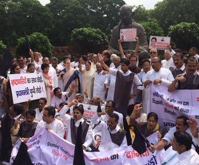 Congress MPs' suspension: 'Shame on you dictator' chants break out at Parliament