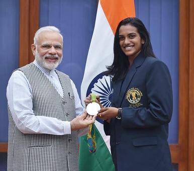 PHOTOS: PM Modi felicitates 'inspirational' athletes