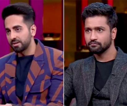 Current Bollywood News & Movies - Indian Movie Reviews, Hindi Music & Gossip - Koffee With Karan 6: Ayushmann Khurrana reveals donating sperm just like Vicky Donor, Vicky Kaushal has priceless reaction on hearing Katrina Kaif's compliment