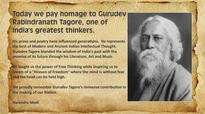 PM bows to Gurudev Rabindranath Tagore on his birth anniversary