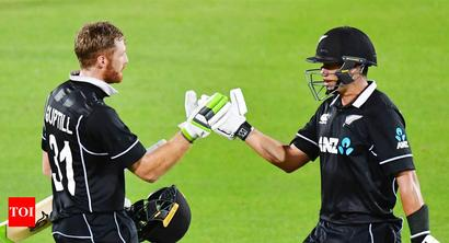 Rediff Sports - Cricket, Indian hockey, Tennis, Football, Chess, Golf - Guptill century secures ODI series for New Zealand