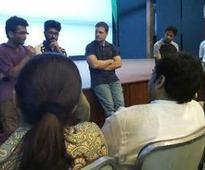 Rahul Gandhi visits FTII, meets protesting students