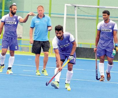 Rediff Sports - Cricket, Indian hockey, Tennis, Football, Chess, Golf - India lose 1-4 to Spain in practice game ahead of Rio