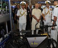 PM Modi attends marine exhibition at International Fleet Review