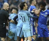 Rediff Sports - Cricket, Indian hockey, Tennis, Football, Chess, Golf - Premier League: Man City, Chelsea, West Brom, Watford charged by FA for not controlling players