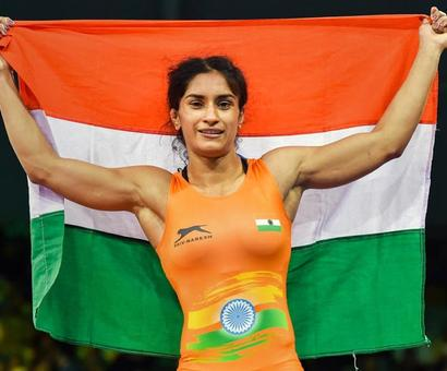 Rediff Sports - Cricket, Indian hockey, Tennis, Football, Chess, Golf - Vinesh Phogat aims to raise the bar for Asian Games gold