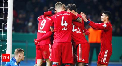 Rediff Sports - Cricket, Indian hockey, Tennis, Football, Chess, Golf - Coman steers Bayern to 3-2 comeback win at Augsburg