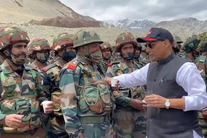 In Ladakh, Rajnath personally lauds Galwan braves