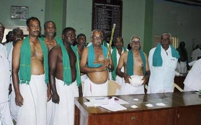 Farmers turn up shirtless for grievance meeting