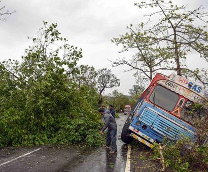 PHOTOS: Alibaug bears the brunt of Cyclone Nisarga