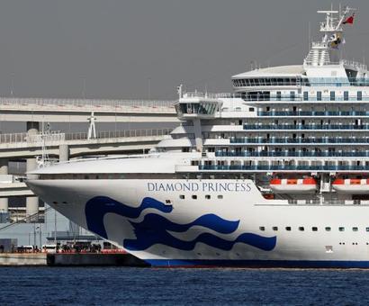 2 more Indians on quarantined ship test +ve