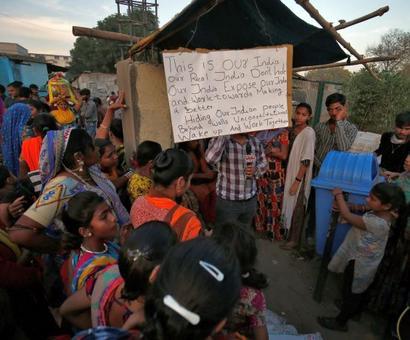 Woman on hunger strike against 'Trump wall' in Gujarat