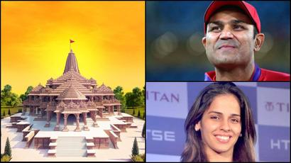 Virender Sehwag, Saina Nehwal and other sports stars extend wishes on Ayodh...