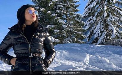 Parineeti Didn't Pack Chiffon Sarees For The Snow. So, She Did This
