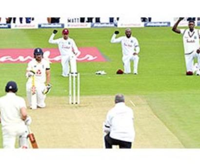 England, West Indies take a knee ahead of 1st Test