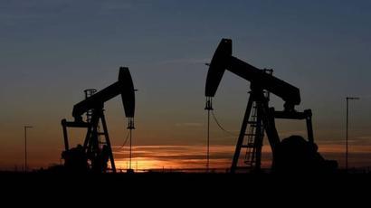Crude oil futures down 1.16%, Brent trades below $44 a barrel