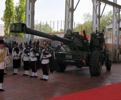 Dhanush gun system on R-Day Parade for 1st time