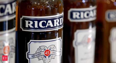Pernod Ricard India growth rate falls to 5% during July-Dec 2019