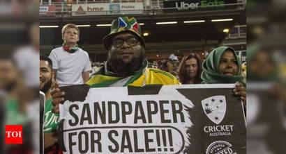 'Sandpaper for Sale': Proteas fans take jibe at David Warner, Steve Smith
