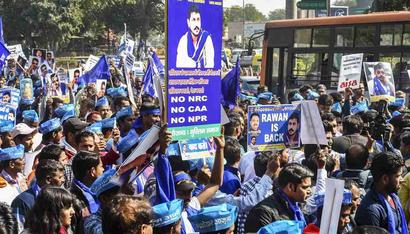 Chandra Shekhar Aazad leads Bhim Army march against SC ruling on SC/ST reservations from Delhi's Mandi House to Jantar Mantar
