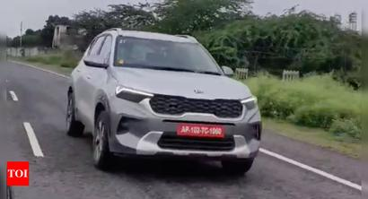 Kia Sonet caught testing on road ahead of launch