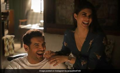 Seen This Pic Of Jacqueline And John Abraham From The Sets Of 'Attack'?