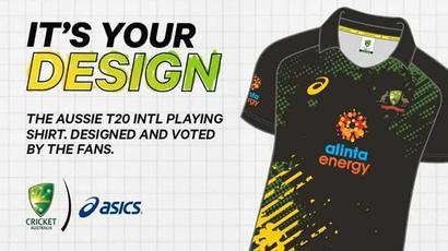 Australia unveil fan-designed T20I jersey for 2021-22 season