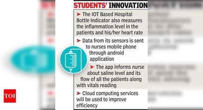 IOT-based saline bottle indicator designed