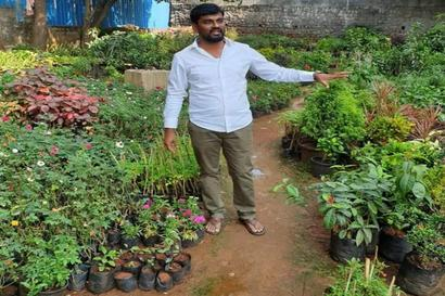 Adding a Green Touch: This Hyderabad-Based Man Gives a Sapling for Every Five Plastic Bags