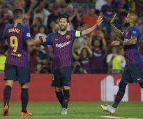 Lionel Messi Scores Hat-Trick As Barcelona Thrash PSV Eindhoven