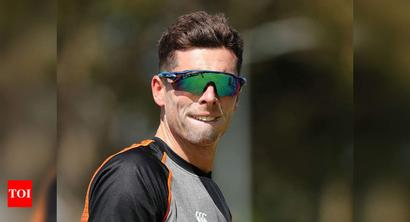 I'll park up in the lounge in corner on way to Caribbean: Mitchell Santner