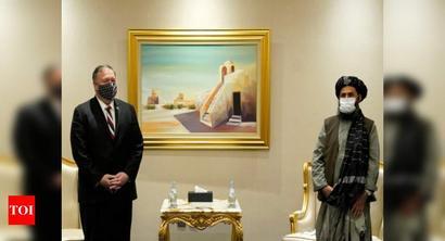 Pompeo meets Taliban, Afghan negotiators in Doha
